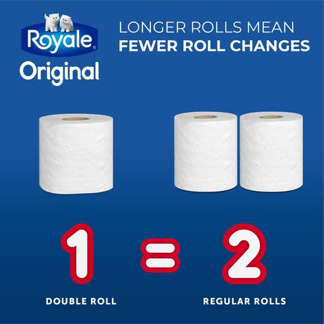 ROYALE® Original Bathroom Tissue, Double Rolls, 12=24 Rolls, 2 Ply Toilet Paper, 253 Sheets/Roll (3,036 Total) - image 6 of 6