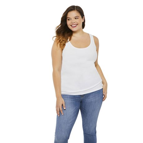 George Plus Women's Ribbed Tank - image 1 of 6