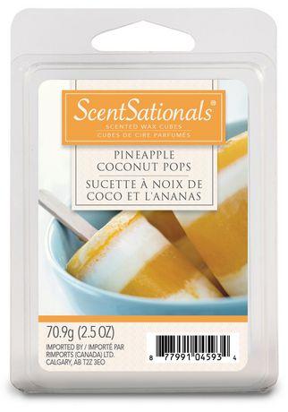 ScentSationals Pineapple Coconut Pops Scented Wax Cubes