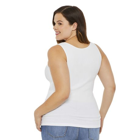 George Plus Women's Ribbed Tank - image 3 of 6