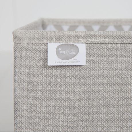 Ensemble de 2 paniers de rangement en tissu chambray et à motifs Storit de Meubles South Shore - image 2 de 7