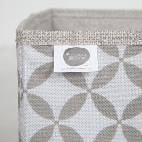 Ensemble de 2 paniers de rangement en tissu chambray et à motifs Storit de Meubles South Shore - image 4 de 7