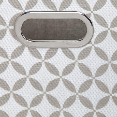 Ensemble de 2 paniers de rangement en tissu chambray et à motifs Storit de Meubles South Shore - image 6 de 7