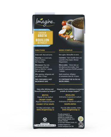 Imagine Bouillon de poulet biologique à faible teneur en sodium - image 2 de 3