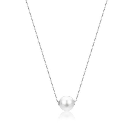 UnicornJ 14K White Gold Pendant Necklace with Floating Freshwater Cultured Pearl - image 1 of 6