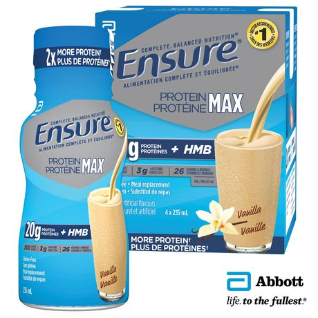 Remplacement de repas Proteine d'Ensure sans gluten de nutrition avancée à saveur de vanille - image 1 de 2