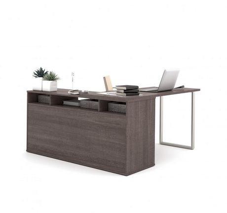 bureau en l solay de bestar avec classeur lat ral et biblioth que walmart canada. Black Bedroom Furniture Sets. Home Design Ideas