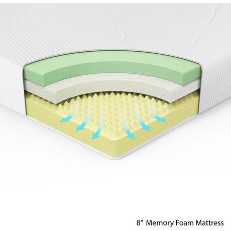 Spa Sensations 8 Inch Mattress With Memory Foam Walmart