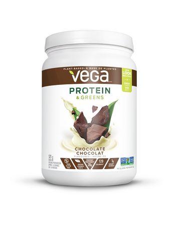 Poudre au chocolat sans gluten Protéines et légumes verts de Vega - image 1 de 3