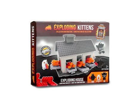 Exploding Kittens - Collector Construction - Exploding House Scene Set - image 1 of 6