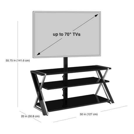 "Whalen Xavier 3-in-1 TV Stand for TVs up to 70"" - image 4 of 9"