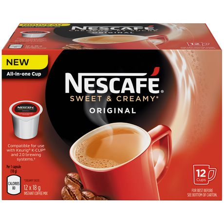 Nescafe K Cup Coffee Maker : NESCAFe Sweet & Creamy Original Pods Compatible for use with Keurig K-CUP Walmart.ca