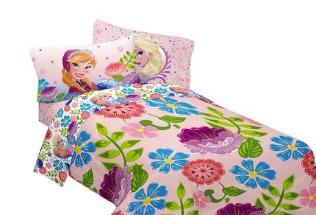 "Disneys Frozen Floral ""Breeze Into Spring"" Reversible Comforter - image 2 of 2"