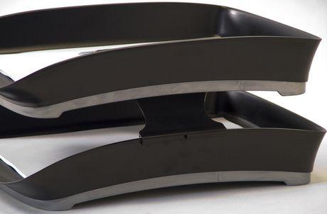 Plateau à lettres empilable Storex avec poignée en caoutchouc - image 3 de 4