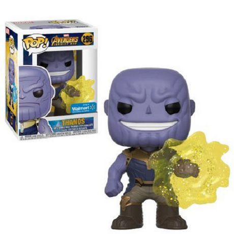funko pop! marvel: avengers infinity war - thanos with yellow