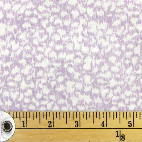 Fabric Creations White and Purple Abstract Cheetah Spots Fat Quarter Pre-Cut Fabric - image 1 of 1