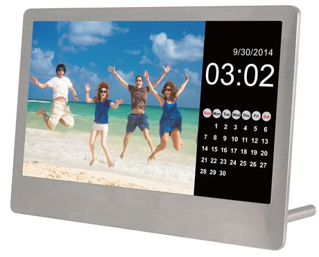 Sylvania 7 Quot Stainless Steel Digital Photo Frame With