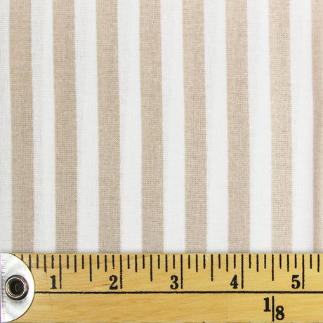 Fabric Creations Fat Quarter Tan and White Stripes Pre-Cut Fabric - image 1 of 1