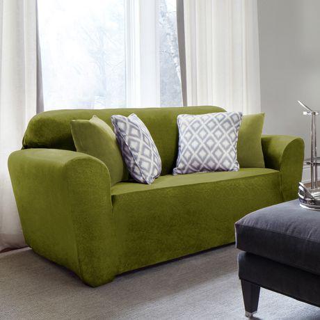 Sure Fit Maude Velvet Stretch Sofa Slipcover | Walmart Canada