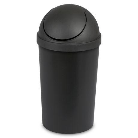 Sterilite 11.4 Liter Black SwingTop Wastebasket - image 1 of 1