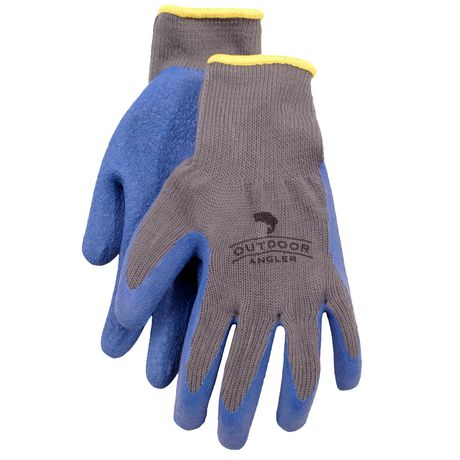 Outdoor angler rubber coated gloves for Fishing gloves walmart