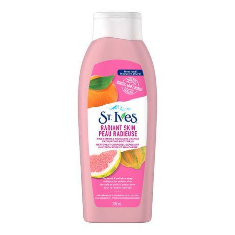 St. Ives  Even & Bright Pink Lemon & Mandarin Orange Body Wash 709 ML - image 2 of 5