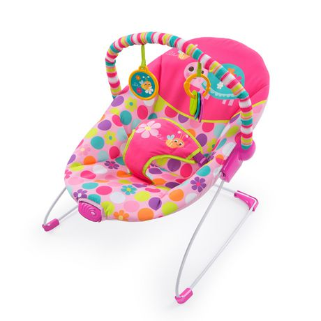 05c0802ed Bright Starts Pretty Pink Safari Bouncer
