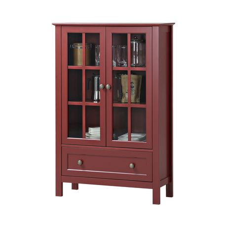 homestar 2 door 1 drawer glass cabinet walmart canada. Black Bedroom Furniture Sets. Home Design Ideas