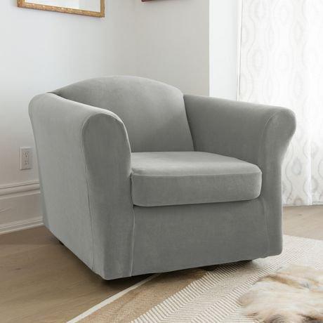 Housse pour fauteuil bella de sure fit for Housse divan walmart