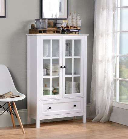 white glass furniture. Homestar White Finish Miranda Glass Cabinet Bin Furniture