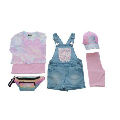 Girls Mini Pop Kids Sparkle Pink Capri Legging - image 7 of 7