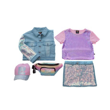 Girls Mini Pop Kids Denim Glow Jacket - image 7 of 7