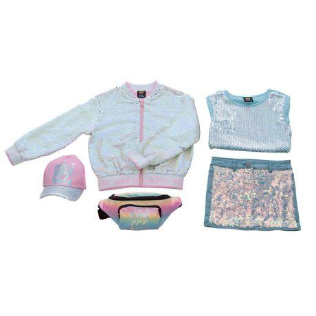 Girls Mini Pop Kids Flip Sequins Bomber Jacket - image 6 of 6