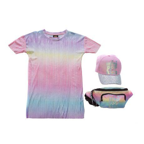 Girls Mini Pop Kids Colorful Shift Dress - image 6 of 6
