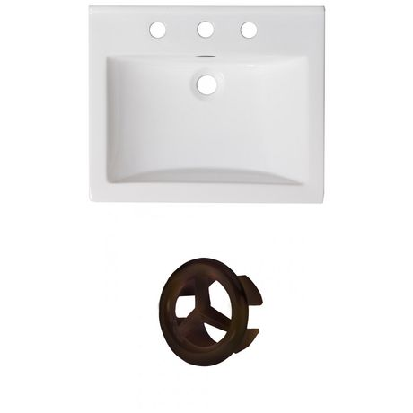 American Imaginations 21-in. W Ceramic Top Set White - image 1 of 7