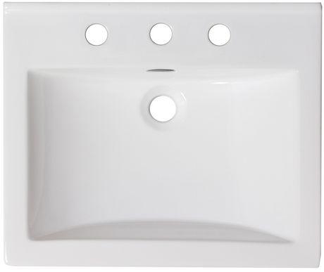 American Imaginations 21-in. W Ceramic Top Set White - image 4 of 7