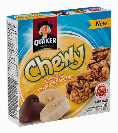 Quaker Chewy Banana Chocolate Chip Granola Bars | Walmart ...