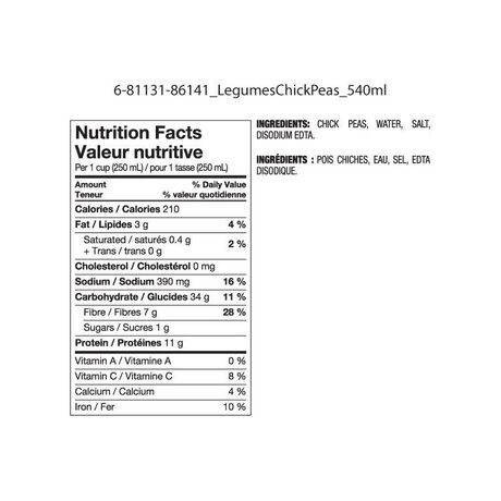 Great Value Chick Peas - image 2 of 2