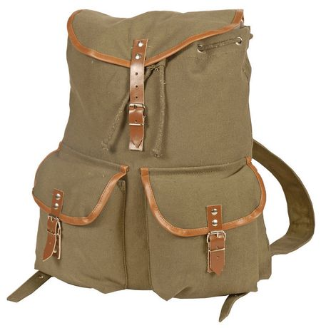 World Famous Sales Of Canada Inc World Famous Vintage Camper Rucksack - Olive Olive