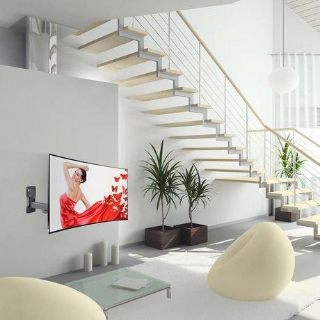 monture murale barkan simple bras pour t l incurv e ou plate de mouvement complet walmart. Black Bedroom Furniture Sets. Home Design Ideas