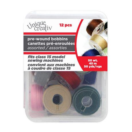 Unique Creativ Pre-Wound Reusable Bobbins in Assorted Colours - image 1 of 2