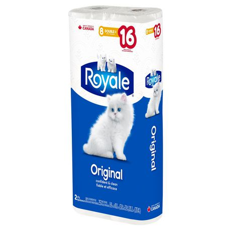 ROYALE® Original Bathroom Tissue, Double Rolls, 8=16 Rolls, 2 Ply Toilet Paper, 253 Sheets per Roll (2,024 Total) - image 3 of 6
