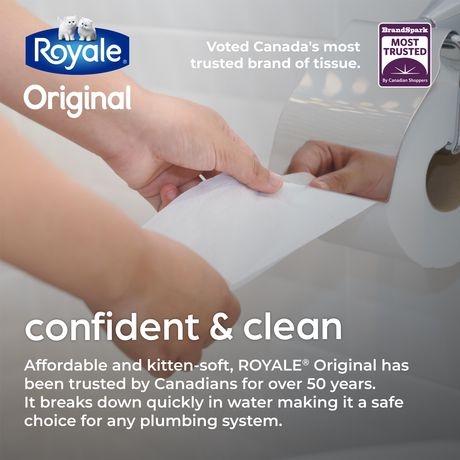 ROYALE® Original Bathroom Tissue, Double Rolls, 8=16 Rolls, 2 Ply Toilet Paper, 253 Sheets per Roll (2,024 Total) - image 4 of 6