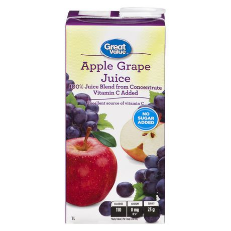 Great Value Apple Grape Juice 1L - image 1 of 2