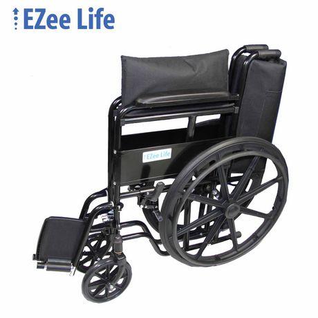 fauteuil roulant conomique largeur de si ge de 18 po. Black Bedroom Furniture Sets. Home Design Ideas