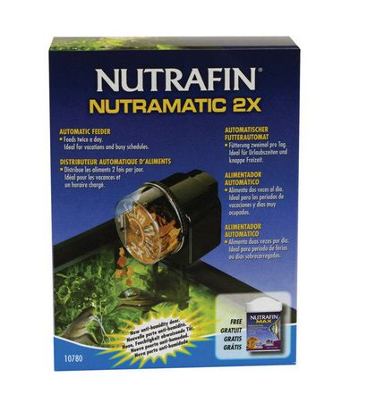 marina nutrafin nutramatic 2x automatic fish food feeder