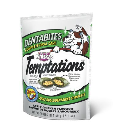 Whiskas Temptations Dentabites Complete Oral Care Chicken Flavour Treats for Cats - image 1 of 3