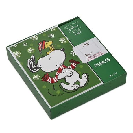 Snoopy Christmas Cards.Connections From Hallmark Peanuts Snoopy And Woodstock