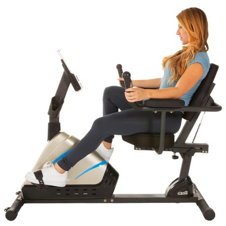 Exerpeutic 2000 High Capacity Programmable Magnetic Recumbent Bike - image 2 of 8