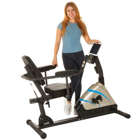 Exerpeutic 2000 High Capacity Programmable Magnetic Recumbent Bike - image 3 of 8